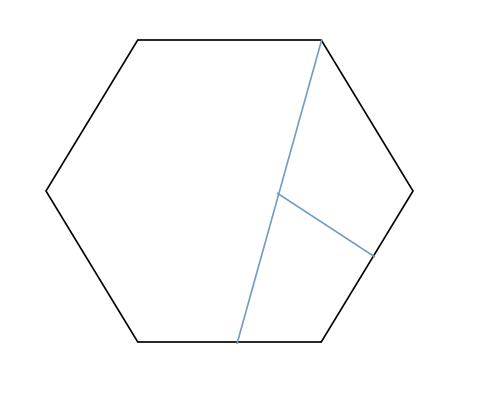 一个正六边形怎样可以分成两个四边形和一个五边形