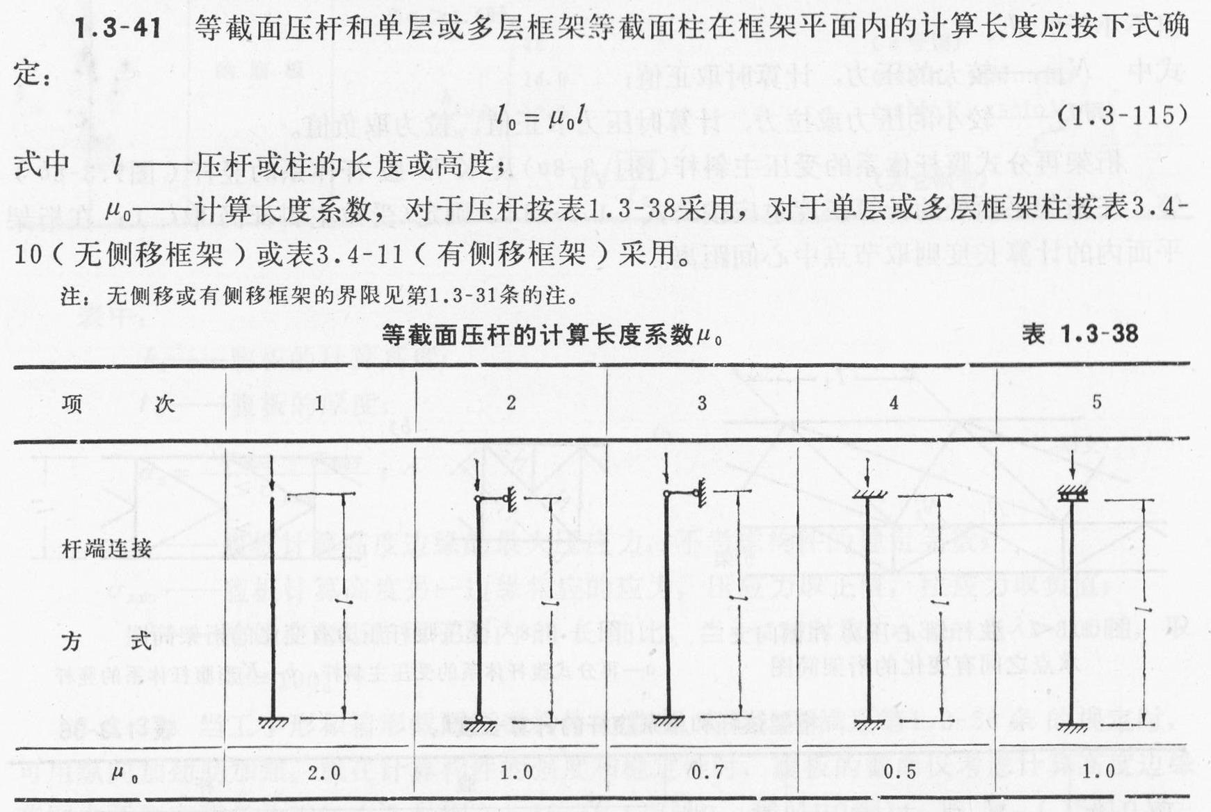 计算单角钢受压构件的长细比时,应采用最小回转半径,计算长度如何取