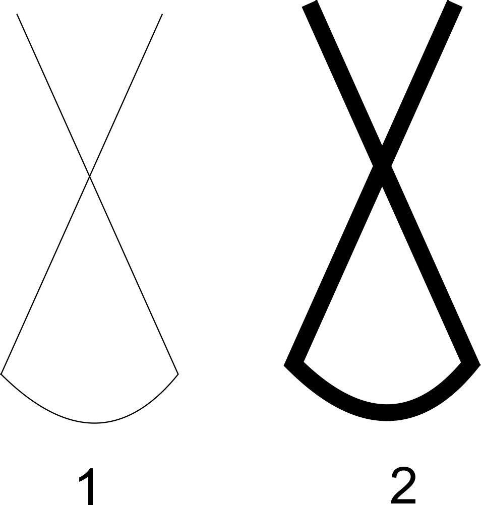 手绘线条轮廓图