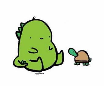 简单手绘萌萌达小恐龙