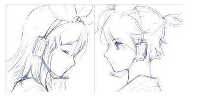 情侣卡通铅笔画头像 可爱点的