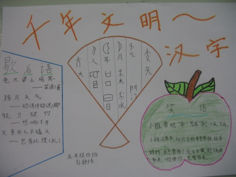 关于遨游汉字王国的手抄报要图片