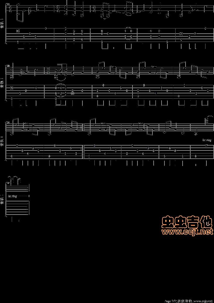 初学吉他求 斯卡布罗集市(吉他独奏)谱子图片