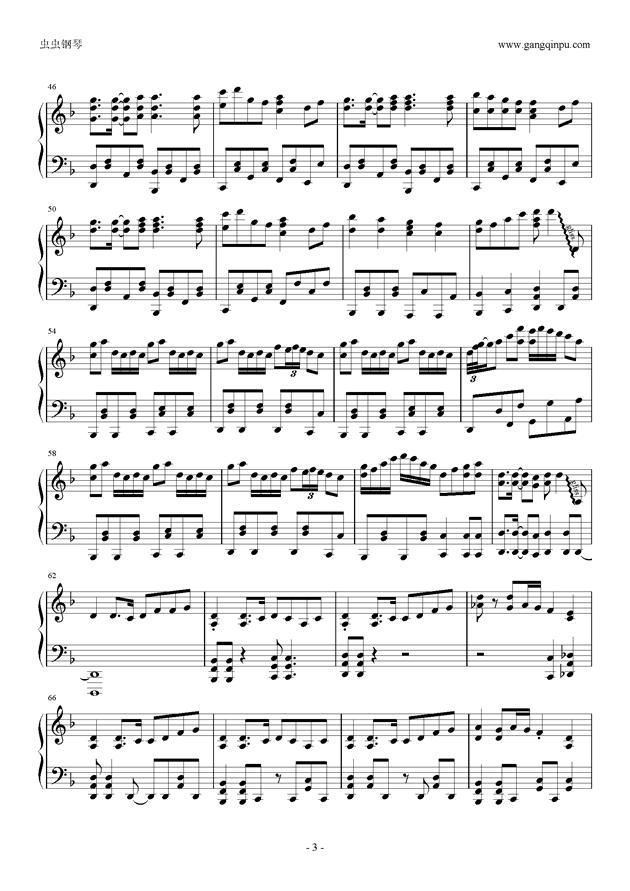千本樱钢琴谱,只要照片.图片