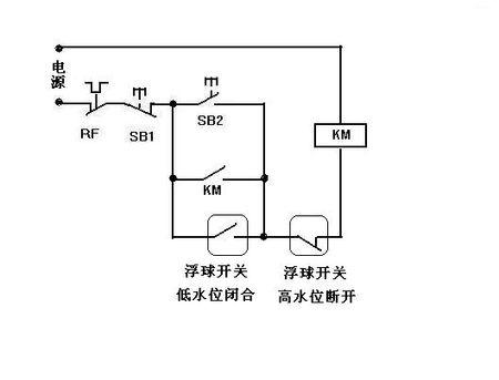 生活水泵的自动抽水控制电路图