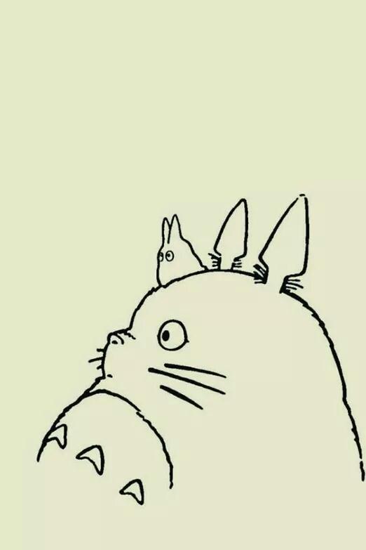手绘卡通龙猫壁纸