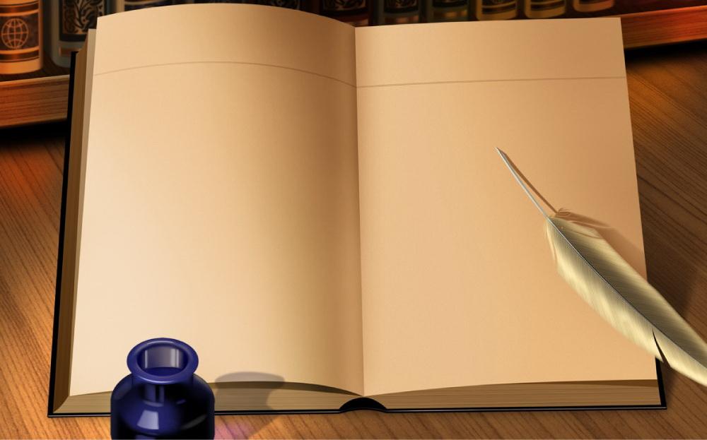 word求背景是一本书的样子.