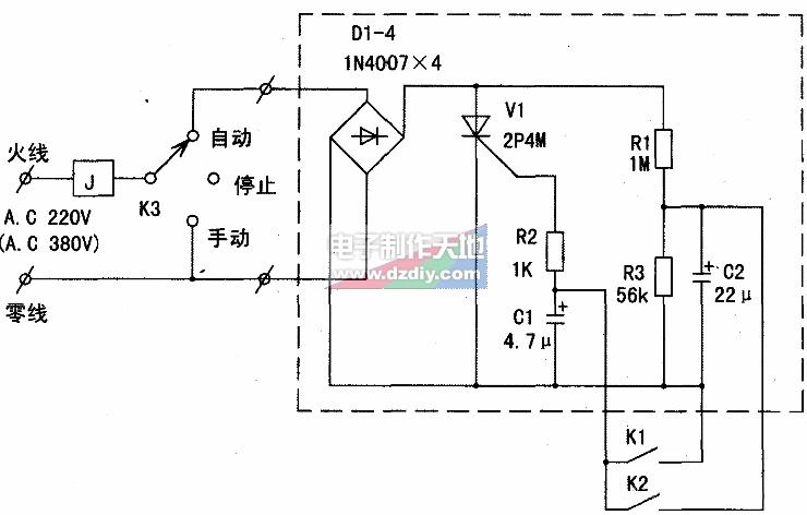 求一液位控制电路接线图,自动开泵及停泵?