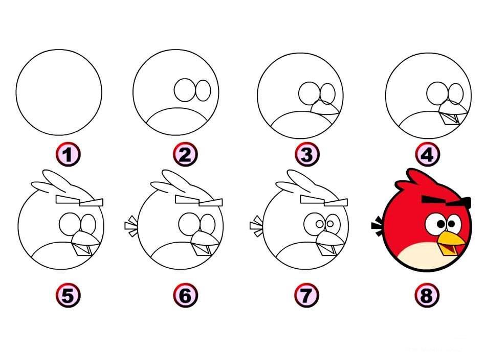 急求 小鸟的简笔画(图)