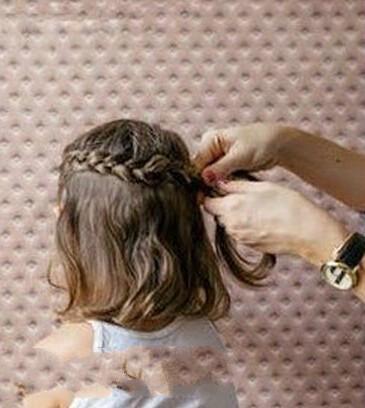 儿童头发怎么扎好看图片和步骤