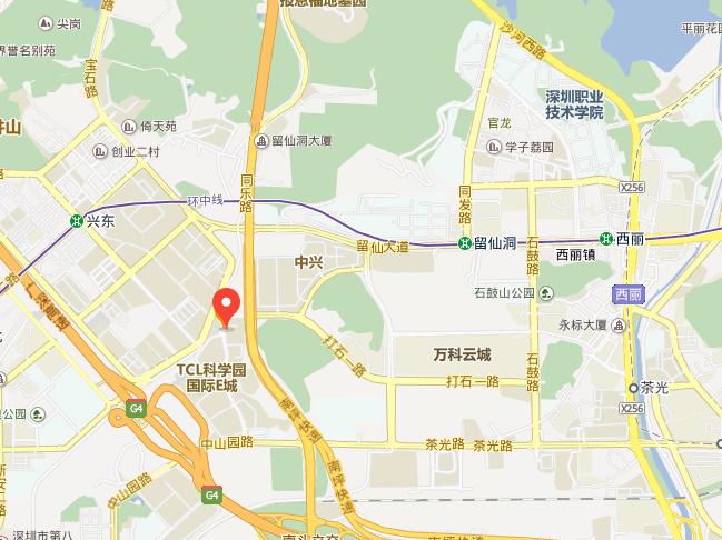 深圳市南山区中山园路1001号国际e城属于哪个街道?图片