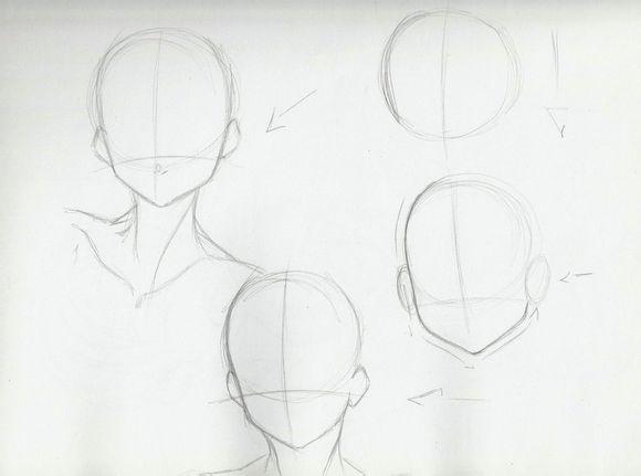 怎么画动漫人物的头.