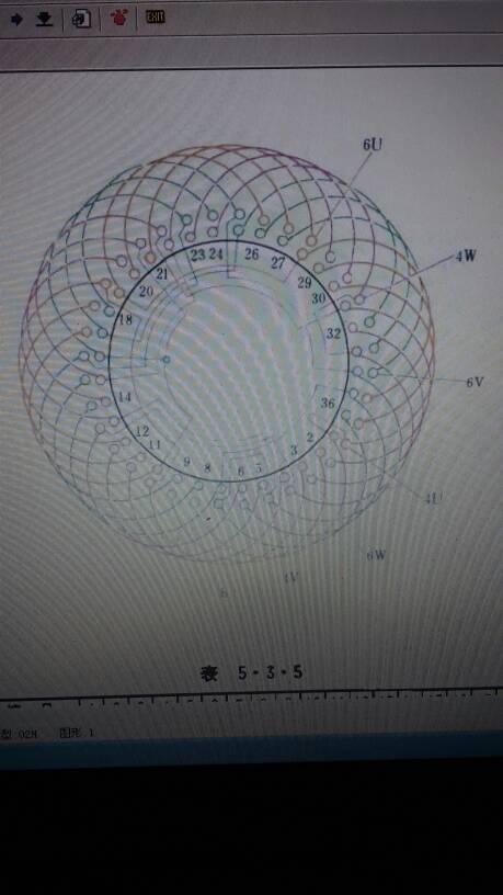 三相36槽4极6极双层双速电机16组接线图