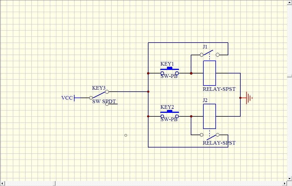 请设计一个按键自锁电路(禁止使用单片机),3个按键(非