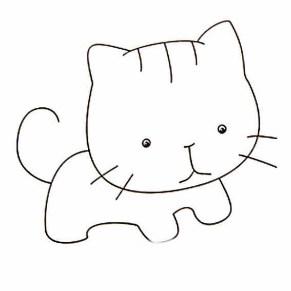 猫的简笔画图片(比较难) (比较真实)图片