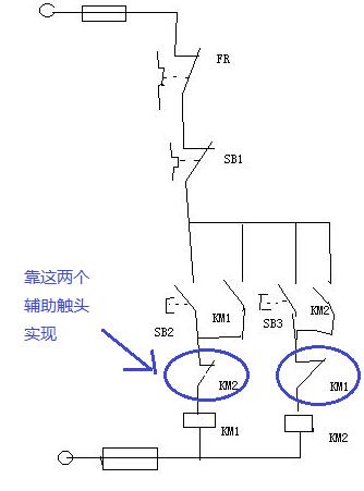 这个互锁电路图怎么理解?详细些