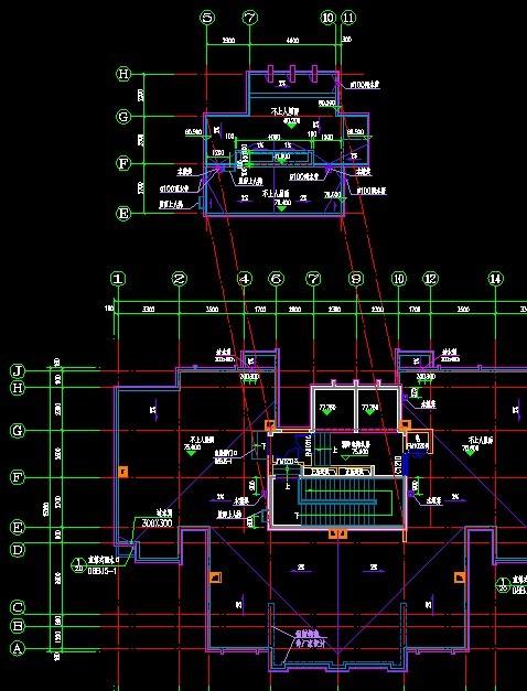 首层顶层楼梯画法_上人屋面的屋顶平面图要画到楼梯吗