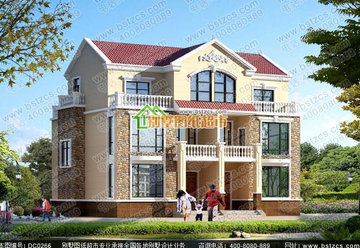 农村双拼自建房宽8米长15米两边不开窗后面共用楼梯平面设计图图片