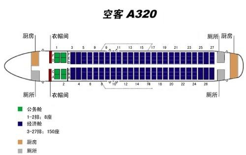 a320的机型是没有35l这个位置的,一共27排,座位排序分别是窗户a图片