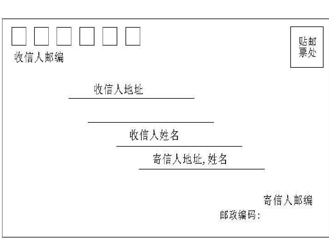 信封格式怎么写?图片
