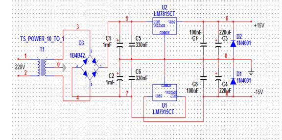 变压器220 15v能不能满足7815 7915组成双电源的输入?