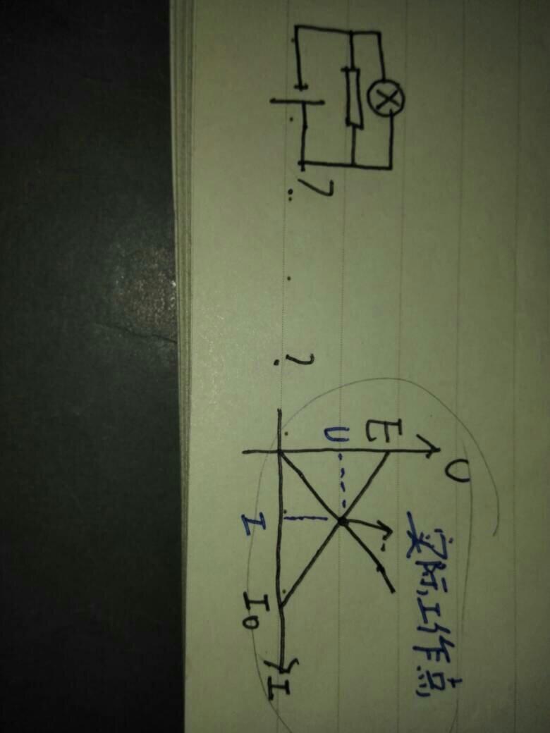 高中物理电学这个实际工作点指的是什么,如果电路图是左边电路图这个