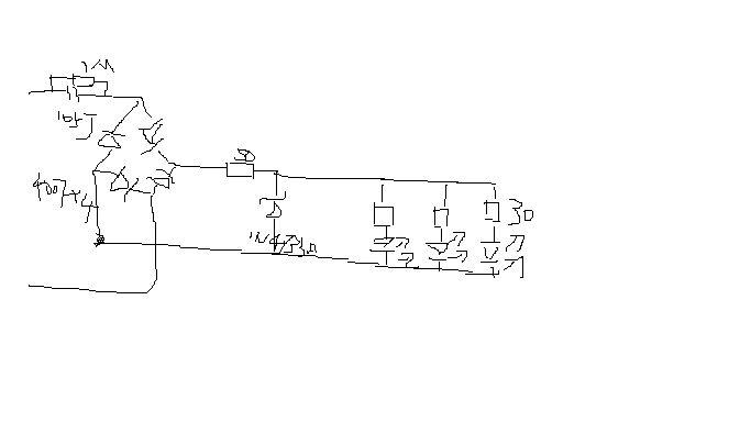 阻容降压led小灯驱动电路