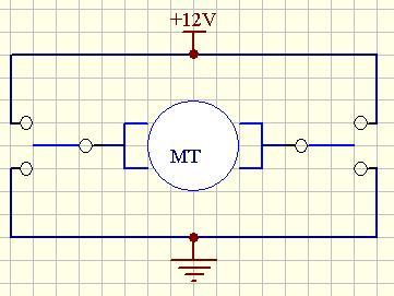 求电路图 控制12v直流电机正反转