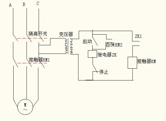 工作原理:当电机铜杆落下一定位置时,碰到下面行程开关(常开点)闭合