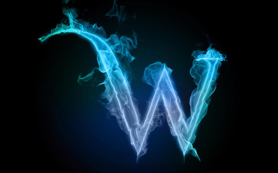 �Nw�Mw�}�����_蓝色火焰字母w,ps大神帮忙弄一个吧,背景黑色,造型帅的啊