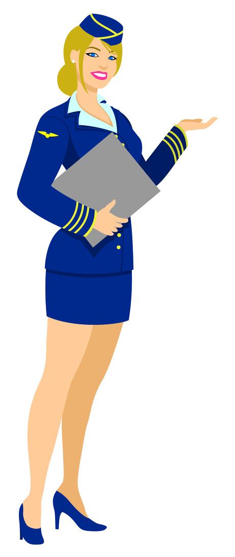 空姐卡通_谁有空姐卡通形象的图片