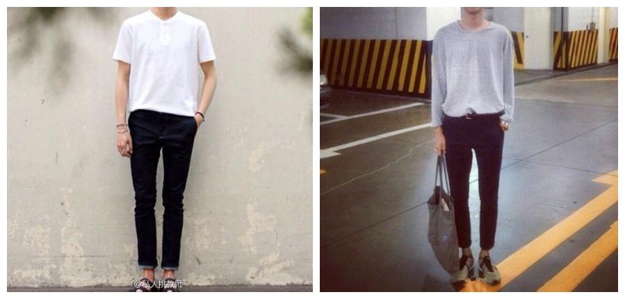 男,身高180,体重116,高高瘦瘦,夏季衣服裤子鞋子怎么搭好?