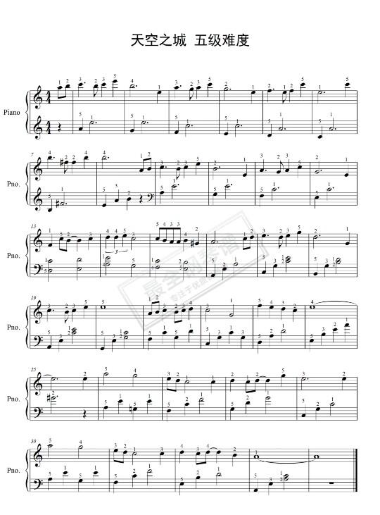 求人质的钢琴简谱 类似于这种 双手的 数字 谢谢 急需