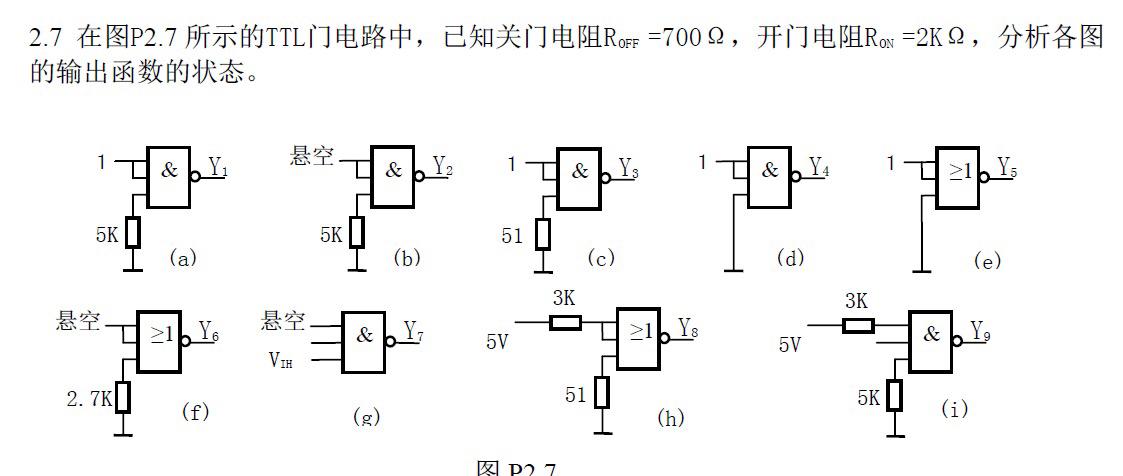 ttl门电路问题 求解题方法