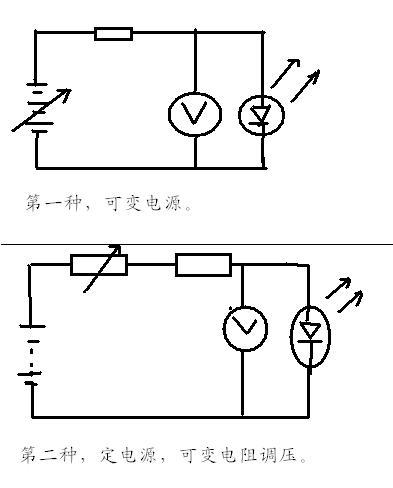 如何用万用表测发光二极管正向导通电压