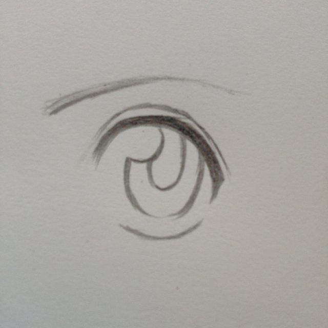 动漫眼睛图片 铅笔画
