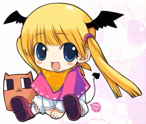 求q版天使恶魔女生图片