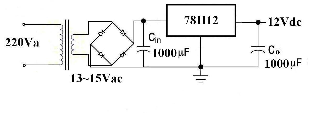 求用电子元器件做出的220v交流转换成12v直流电压的电路图及具体讲解