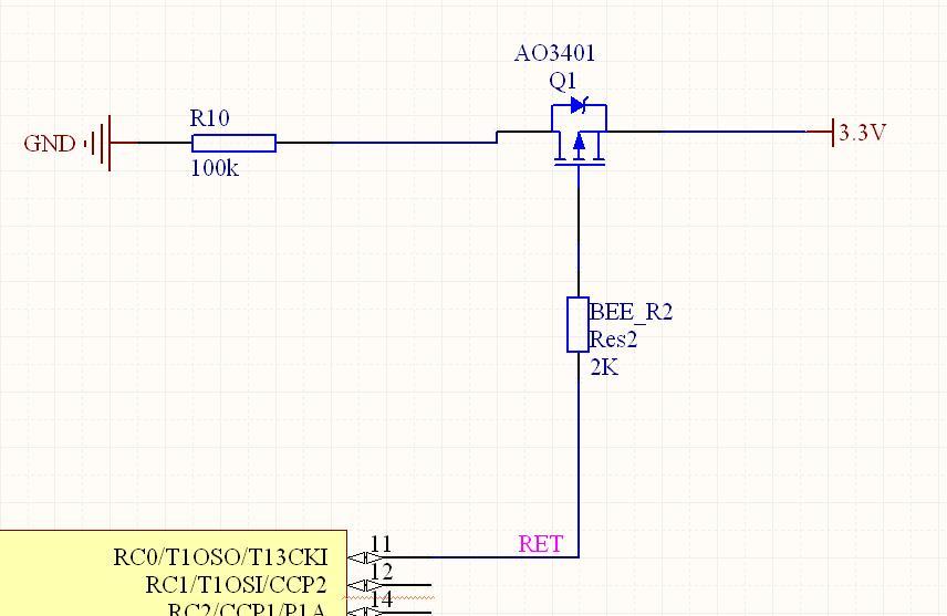 即0v时,能全导通正常,但当输出为高电平时,pmos管输出还有2v左右的