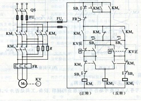 求三相电动机正反转电路图.带泄力延时的.不要自动转换正反转.