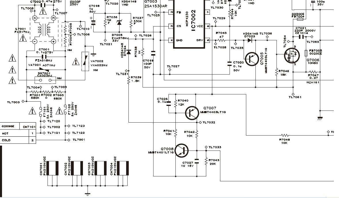 夏普lsd-32z100a电源电路图
