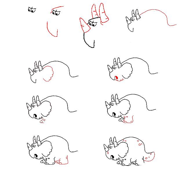 画子简单又可爱的小龙