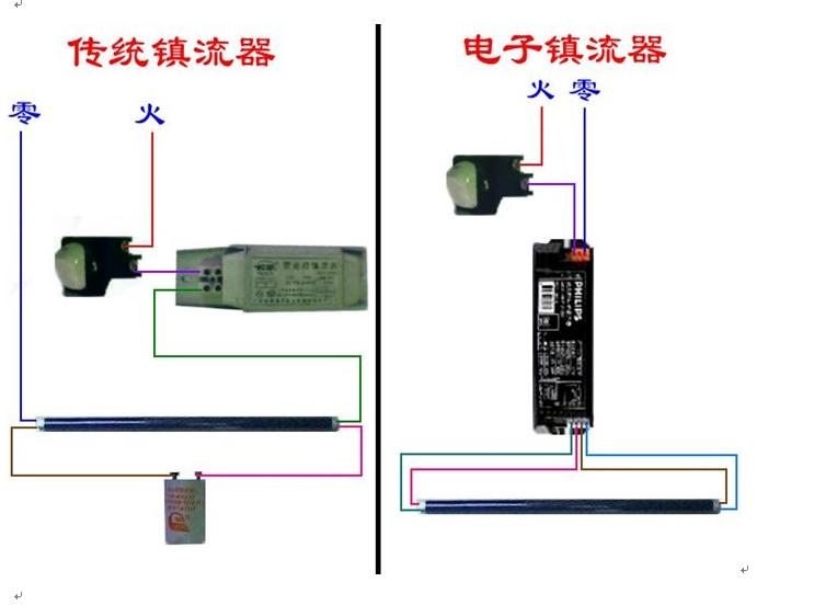 led日光灯接线图哪一家有?怎么安装?