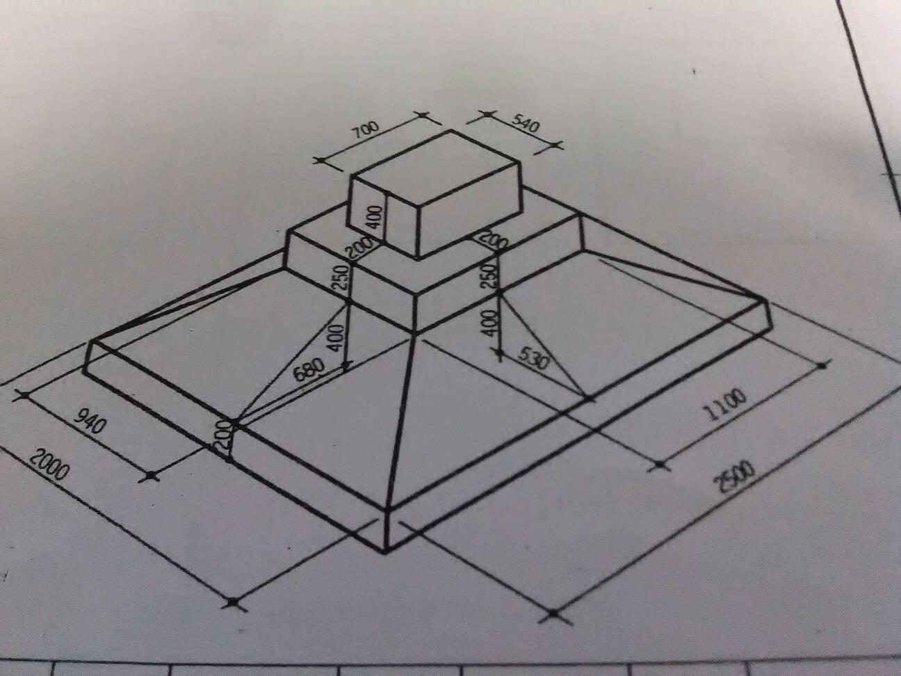 由组合体的轴测图画其三视图,并注尺寸.(单位:mm 比例