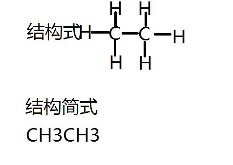 乙烷的结构式和结构简式是什么?