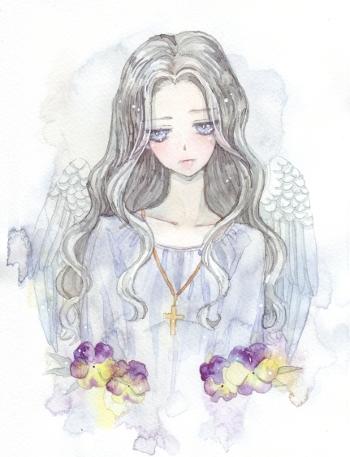 求一张卷发少女的自己画的手绘图,漫画的.