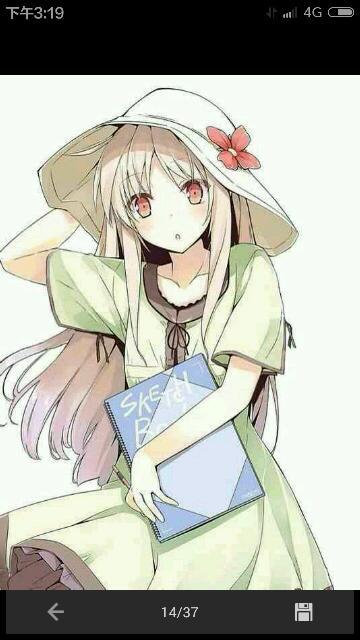 动漫的唯美可爱的女孩的图片,要高清的