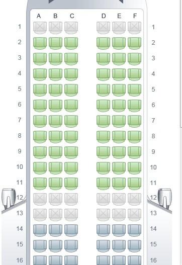 空客320座位图,哪个舒服图片