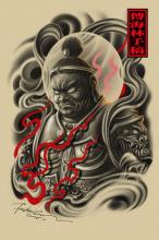 纹身手稿——巨灵神图片