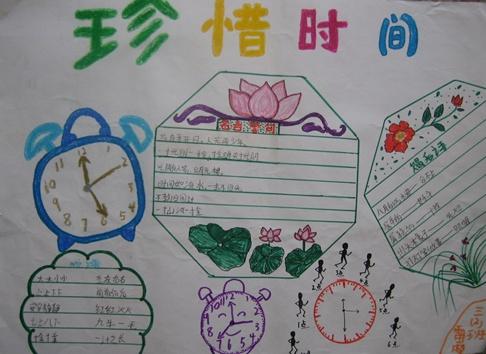 关于小学6年级珍惜时间的手抄报图片